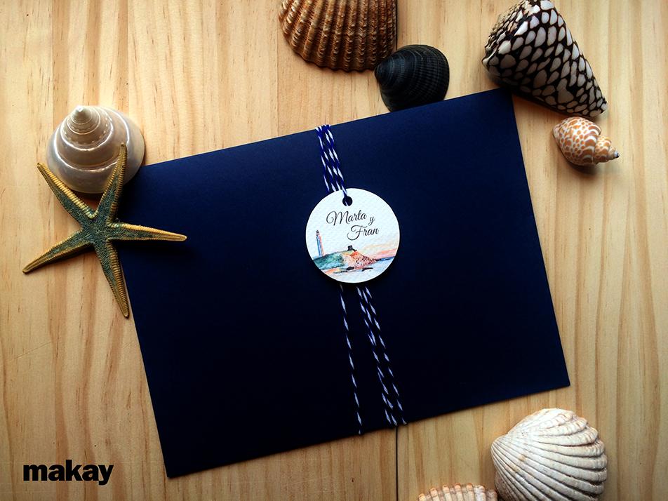 Invitaciones con aire marinero